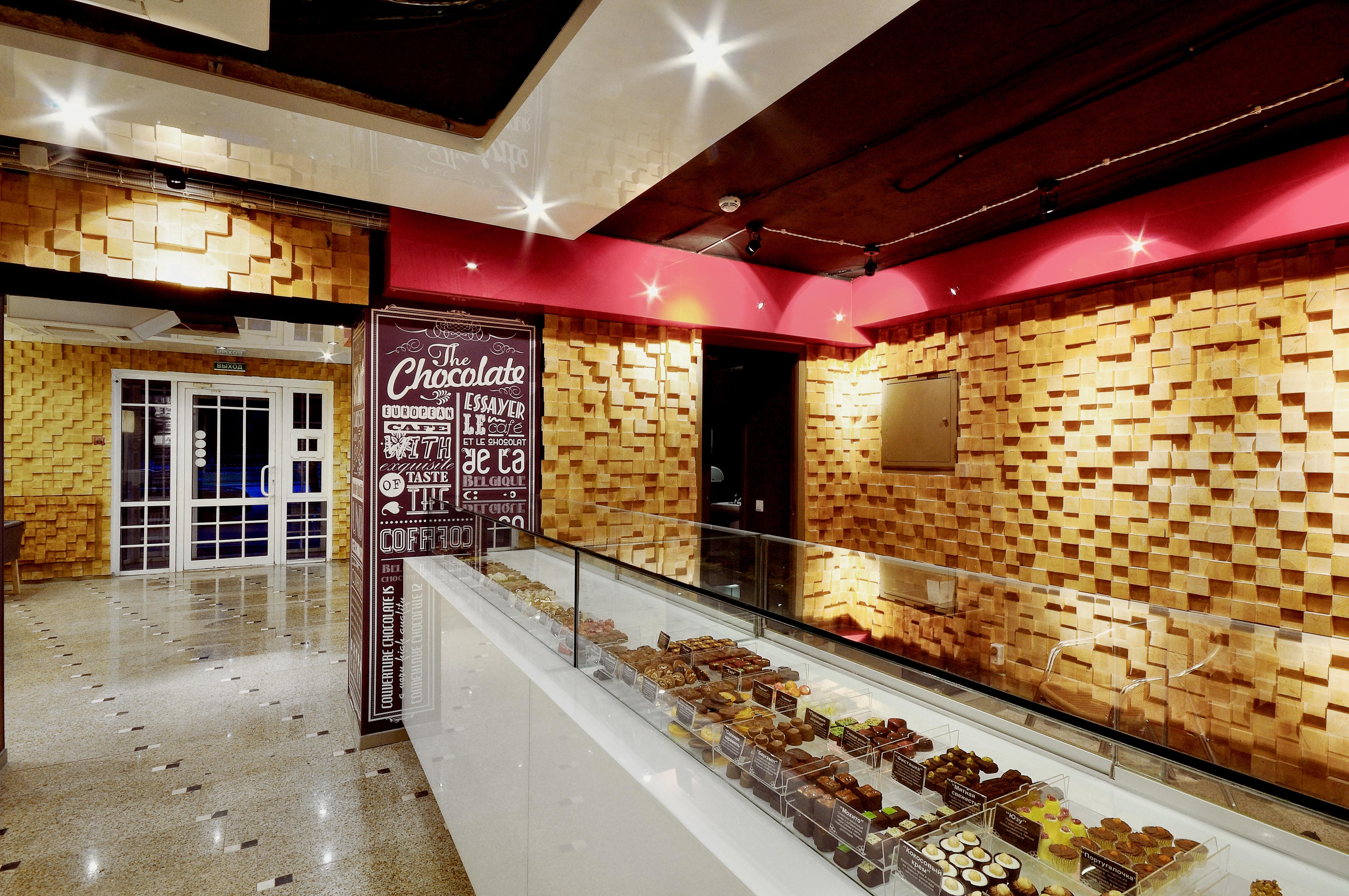 Дизайн интерьера кафе и магазина шоколада Couverture Chocolatier Café