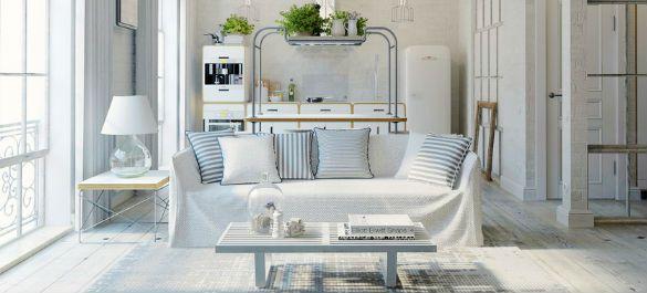 Квартира-студия с «растворившейся» в пространстве кухней