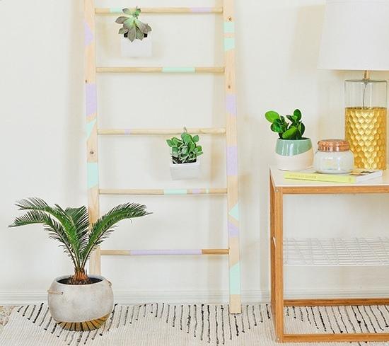 Декоративная лестница для подвесных цветочных горшков и текстиля