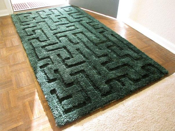 Дизайнерский коврик с узором «лабиринт» своими руками