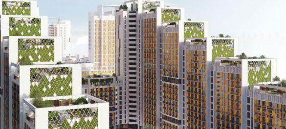 В Санкт-Петербурге появится жилой дом с садами на крышах и зелеными террасами