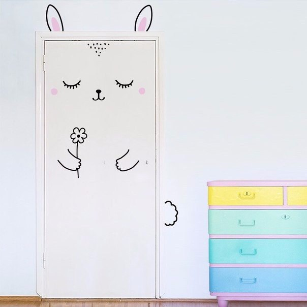 Декоративная роспись дверей своими руками