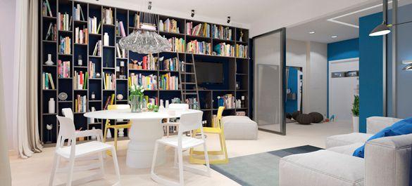 Уютная квартира для семейного чтения