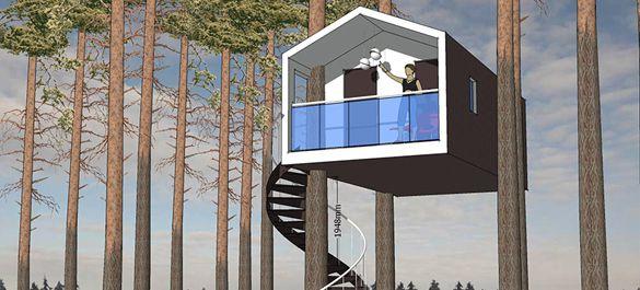 Экоотель с домами на деревьях построят в 70 км от Москвы