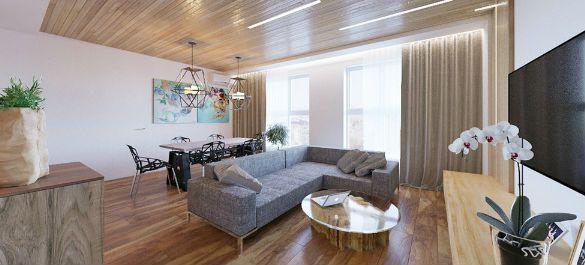 Стиль минимализм в московской квартире без несущих стен