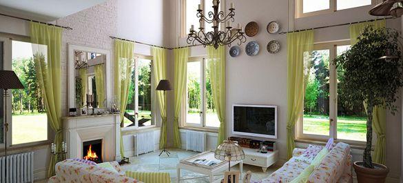 Коттедж в стиле прованс в Подмосковье для семьи с двумя детьми