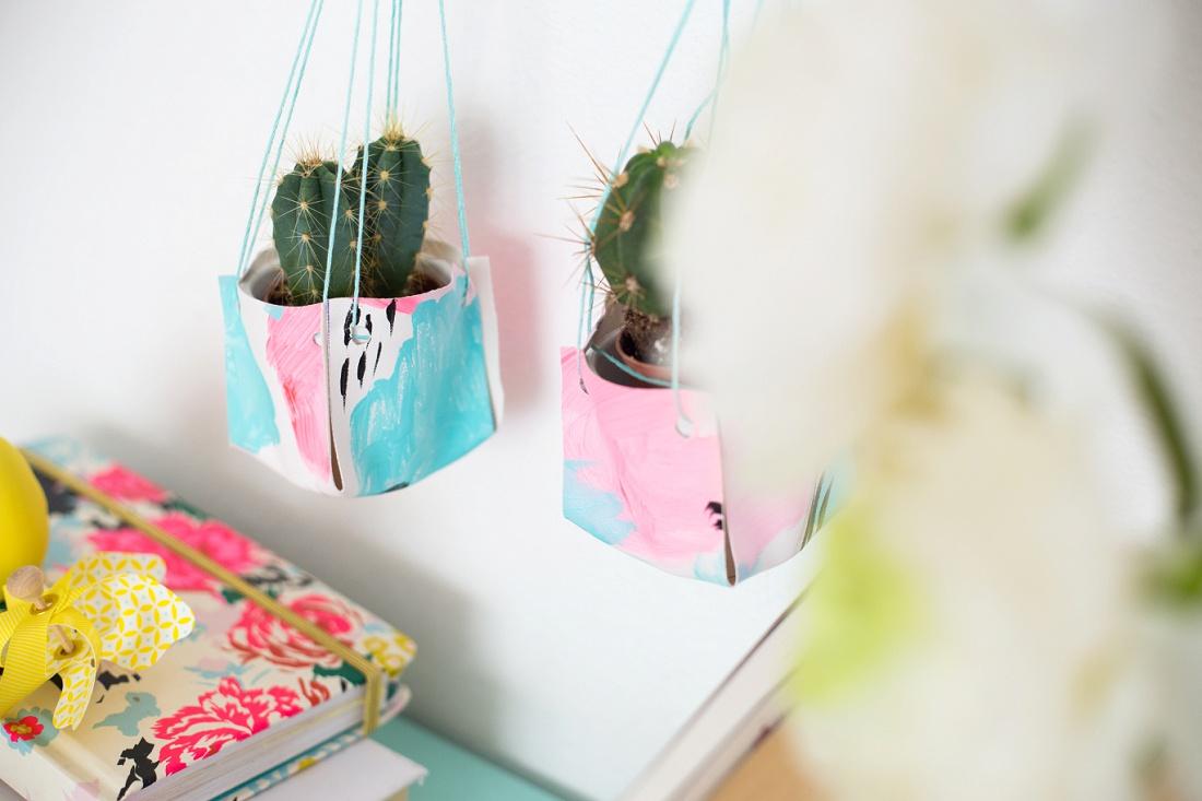 Подвесные кожаные кашпо для миниатюрных кактусов и суккулентов