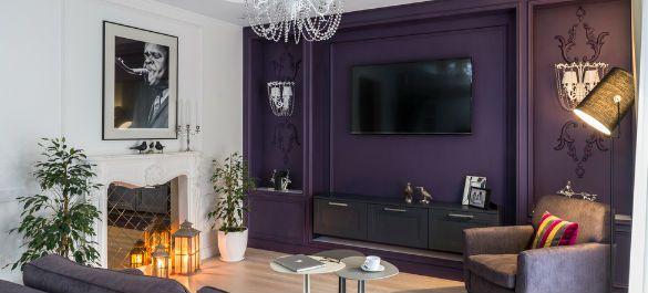 Роскошный интерьер в стиле ампир в спальном микрорайоне