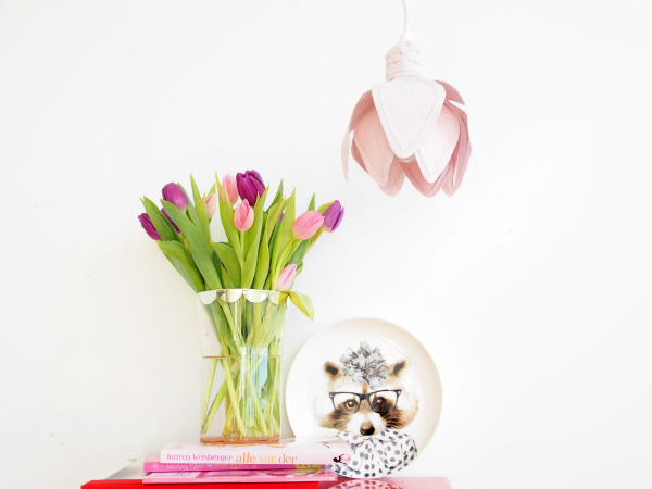 Плафон в виде нежного тюльпана своими руками