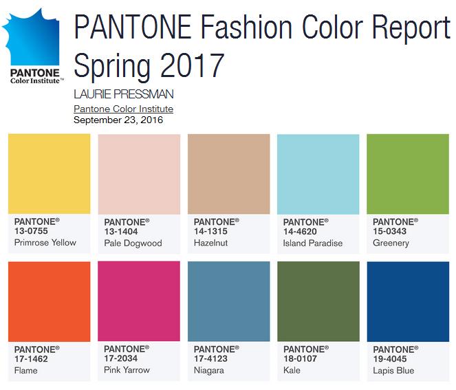 Пыльно-голубой и ореховый станут главными цветами будущего лета 2017 года